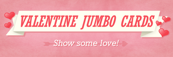 Valentines Day Jumbo Cards